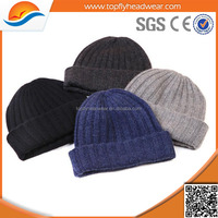 custom wholesale plain beanie knit ski cap hat warm winter running blank wool beanie hats