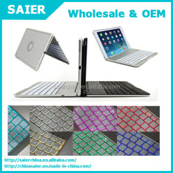 Aluminum Backlight Backlit wireless Bluetooth Keyboard Cover Case For iPad Air 2