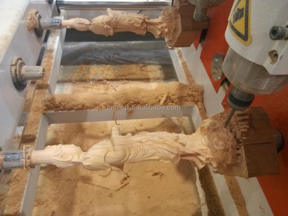 4 axis woodworking Professional cnc router with 4 heads