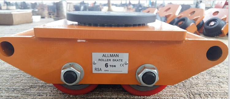 ALLMAN best selling type industrial material handling RSA 6ton manual cargo transport trolley