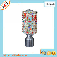 metal wall decor bling decorative curtain rod end caps