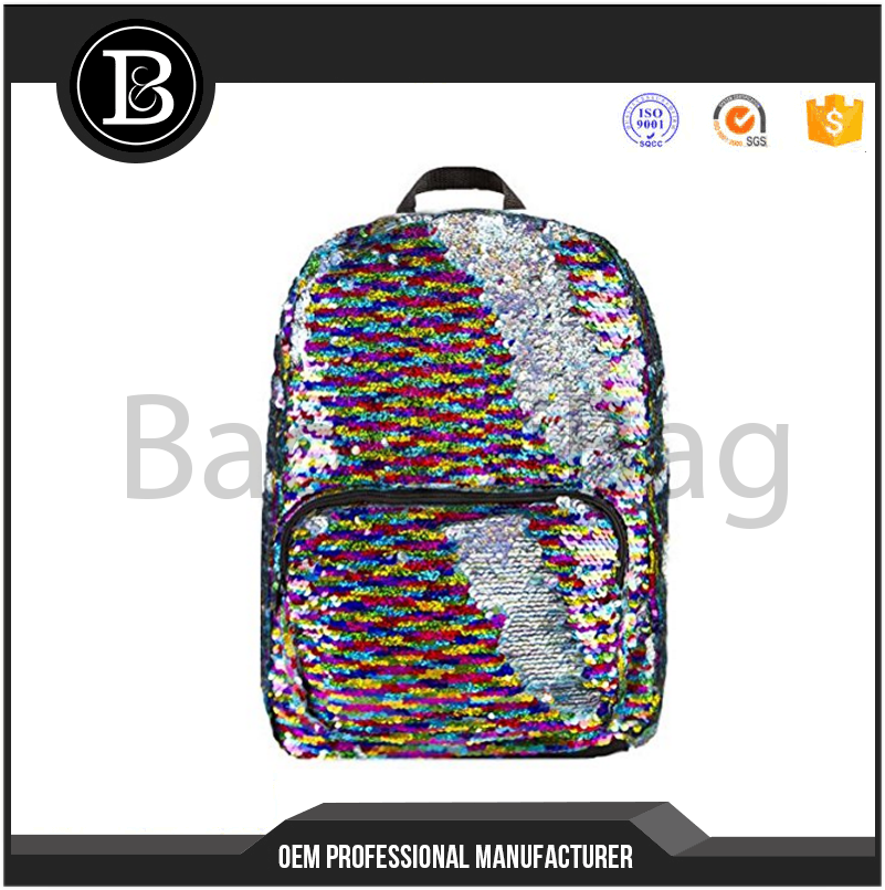 Sequin School Supplies Childrens Nylon Mini Backpack Book Bag