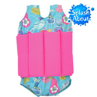 Hot Sale children swimwear distributor Cute Printed Nylon Elastane UV protection taiwan 1-2y kids floating swimwear