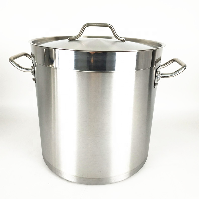 Hotel supplies 50L 100L Tall Straight-shaped Non-magnetic stainless steel stockpot/commercial stock pot/soup pot