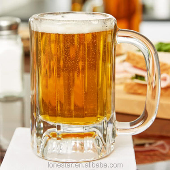 Hot selling 16oz beer mug glass for wholesales