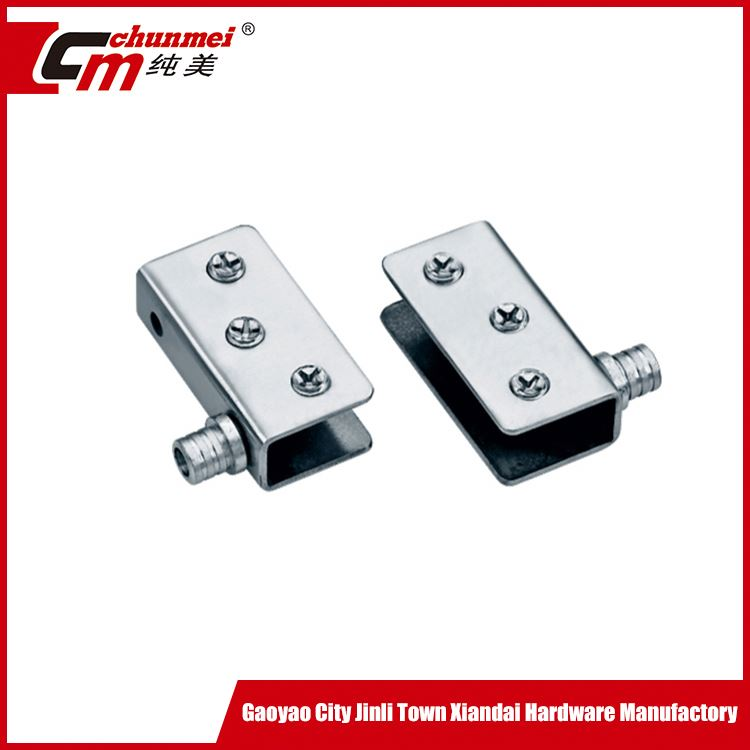 Flexible metal multilateral type glass door hinge