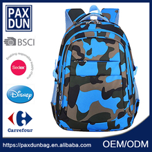 China style blue boys outdoor Military Popular High Grade Backpack