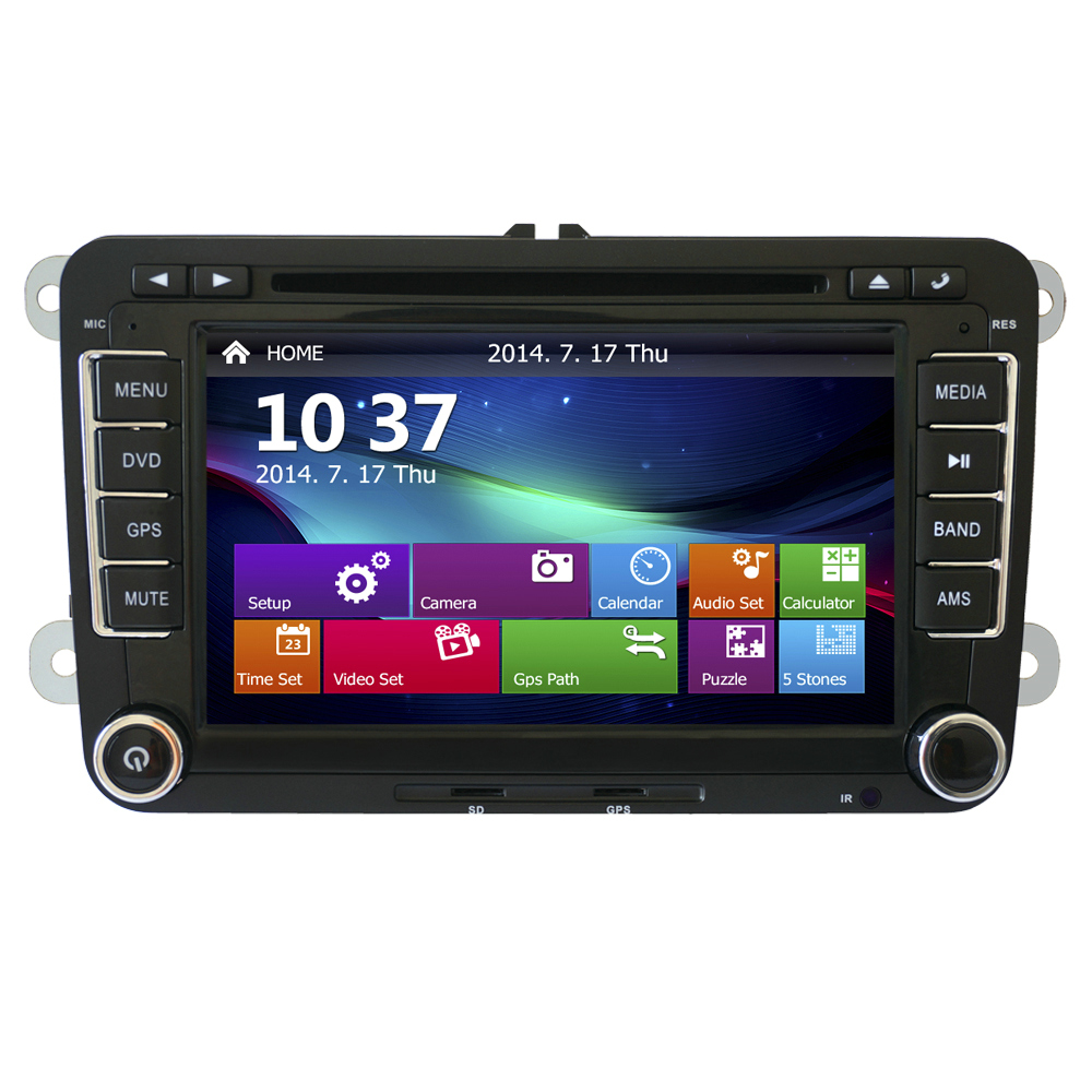 2 Din Touch Screen DVD Player Stereo Car Radio for VW Polo with GPS Navigation System