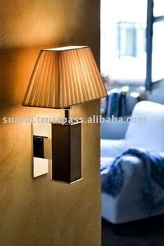 Brass wall light with reading LED light