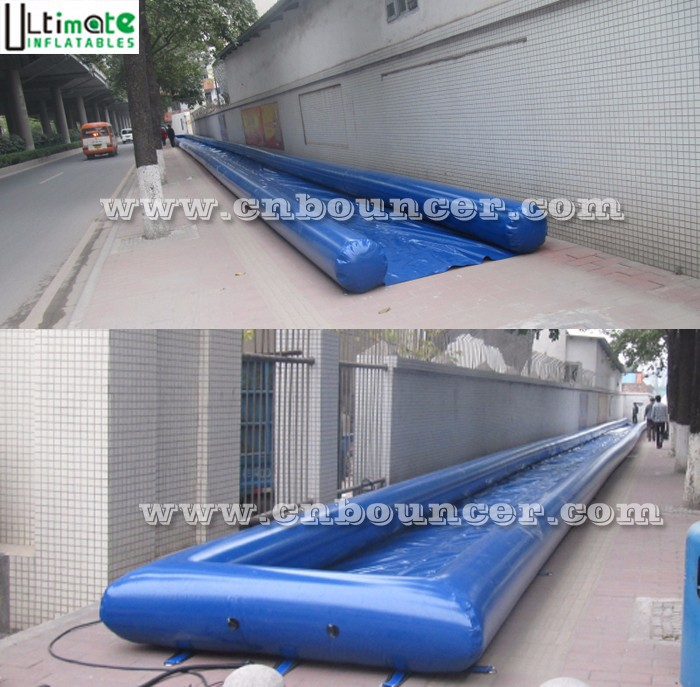 Air tight long inflatable slip and slide for kids