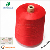 100% Pure Virgin Polyester Spun Yarn Dyed for T-shirt Fabric Knitting