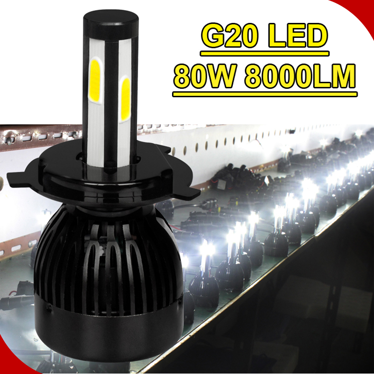 Car Accessories,Guangzhou auto part car head light 3k 6k fan 360 lighting 8000lm led headlight bulbs HB3 HB4 H10 H11 H7 H4 D2S