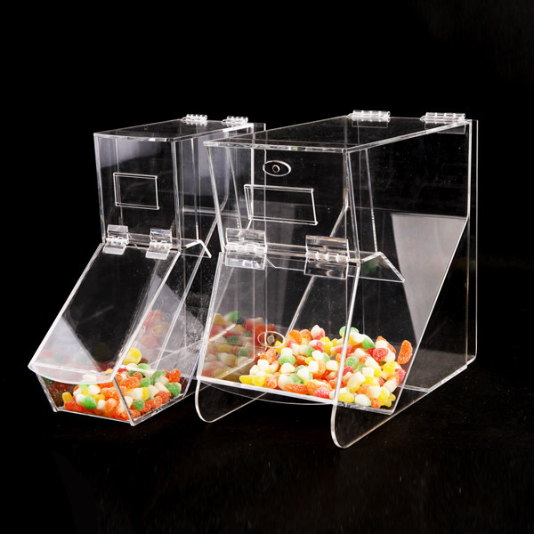 wholesale clear acrylic candy box in supermarket