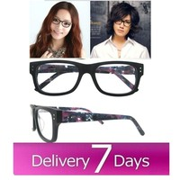 2015popular fake wood optical frame fashion big optical frame high quality acetate