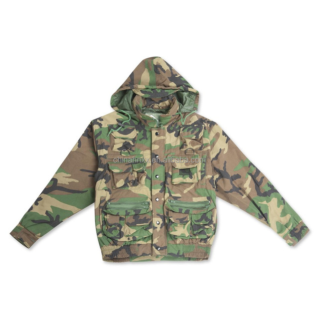 woodland camouflage winter jacket with hood replacement