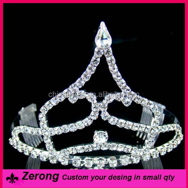 Wholesale handmade hair comb cheap ballet bridal tiara for prom