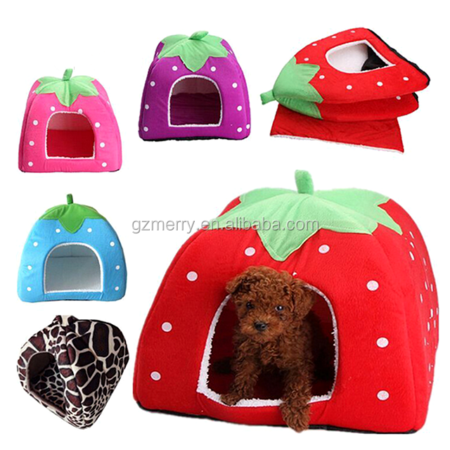 New arrival strawberry design dog bed wholesale