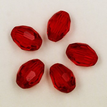 600pcs/lot Red 6*8mm Facted Beads Glass Crystal Beads for Necklace & Bracelet DH-BBA022-03