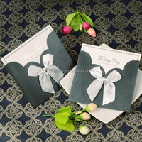 Free sample wedding card & customized invitation card & luxurious classic wedding invitation card