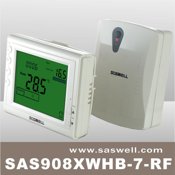 Saswell escritorio rf programable termostato digital para for Termostato digital calefaccion programable