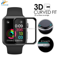XDDZ- 2017 for Apple Watch Tempered Glass 3D Full Cover Curved Edge Screen Protector for iWatch Series1 & Series 2