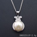 Fresh water Pearl Jewelry 925 Sterling Silver Cage Pendant Mother Of Pearl Sets Pnedant DR032511P