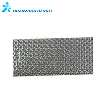 Single side aluminum foil fabric / aluminum coated fabric / high light sun reflective fabric