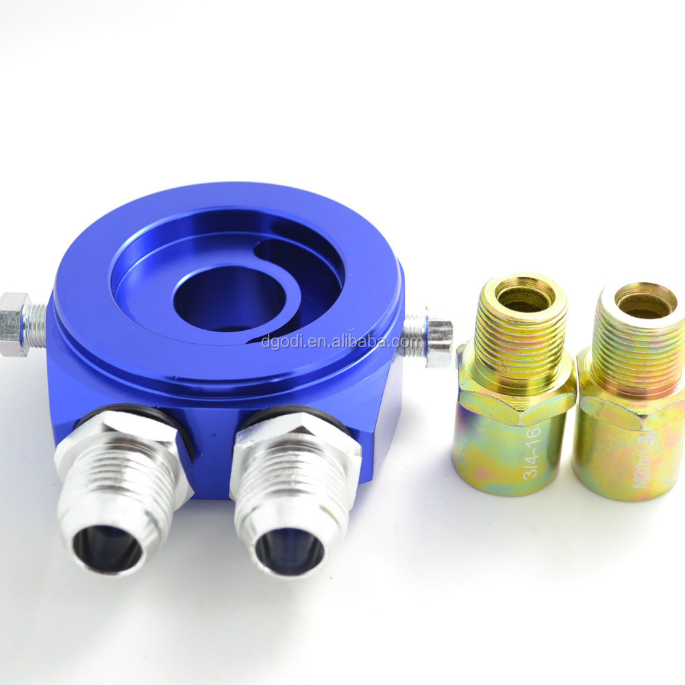 blue anodized aluminum automotive connector and auto connector