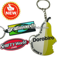 2016 cheap rubber promotional 3D custom logo motorcycle keyring