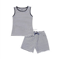 Boys clothes summer 2016 wholesale children clothing striped vest tank top and shorts baby outfits sets for kids