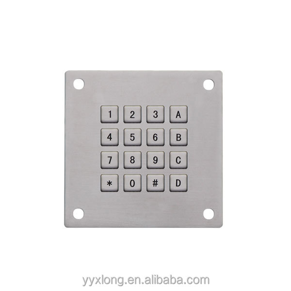 Car Charging Station Keypad custom embossed round membrane foil keypads kiosk for payment and coupon printing keypad