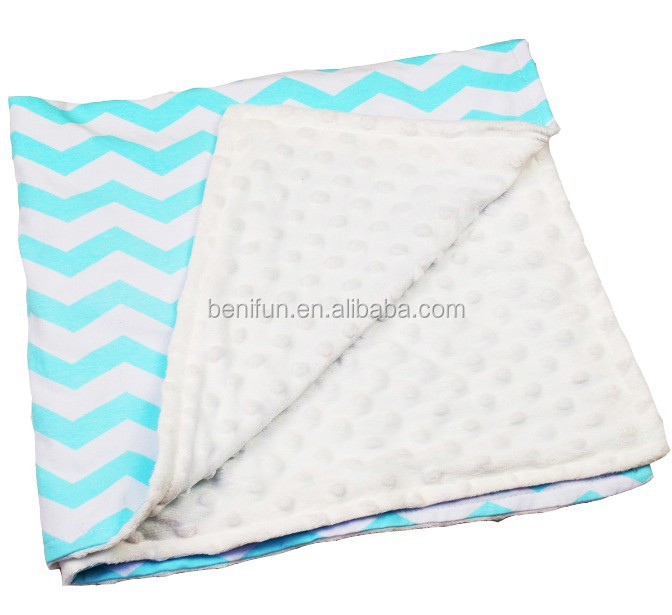 Newborn&Baby&Kids&Boy &Gilrs high quality chevron Seersucker football pattern super soft minky knitted cotton towel crib blanket