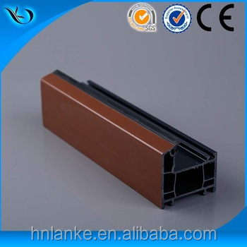 Wood laminated factory price upvc profile plastic door frame covering