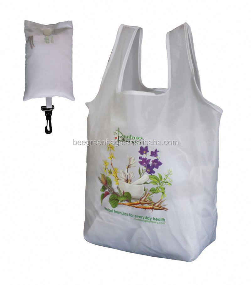 2015 Hot-seller promotional pvc shopping bag with small pouch
