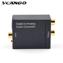 MIni size Manufacturer High Quality Optical SPDIF/Coaxial Digital to RCA L/R Analog Audio Converter with 3.5mm Jack