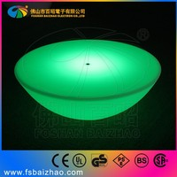 LED KTV mobile round bar counter glass tea table design