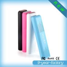 New products 2016 10400mah power bank plastic portable