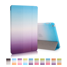 Wholesale Ultra Slim Magnetic Smart Rainbow Cover Leather Case for iPad mini 2 for iPad 3