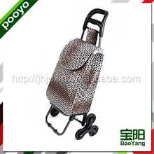 shopping trolley bag with wheels large folding cart