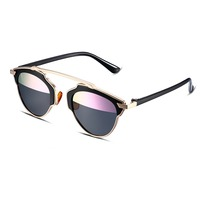 SJYJ00051 Frog Mirror Bright Color Lens Unique Style Resist The Strong Light Fashionable Women Sunglasses For Travel Accessory