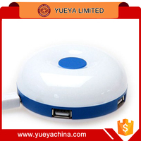 round shaped colorful USB 4 points