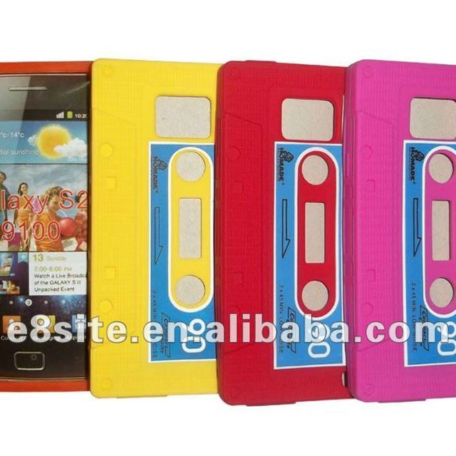 Cassette Silicone Skin Case For SamSung i9100 Galaxy S2