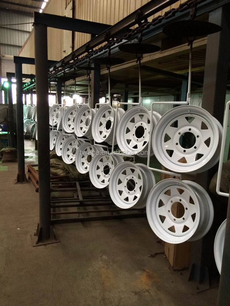 "GALVANIZED TRAILER WHEEL RIMS 13""-16"