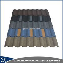 High-low temperature resistance heat resistant stone coated roma type metal roof tile