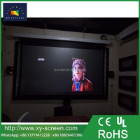 XYSCREEN Home cinema black diamond ambient light rejecting tab tensioned motorized projection screen