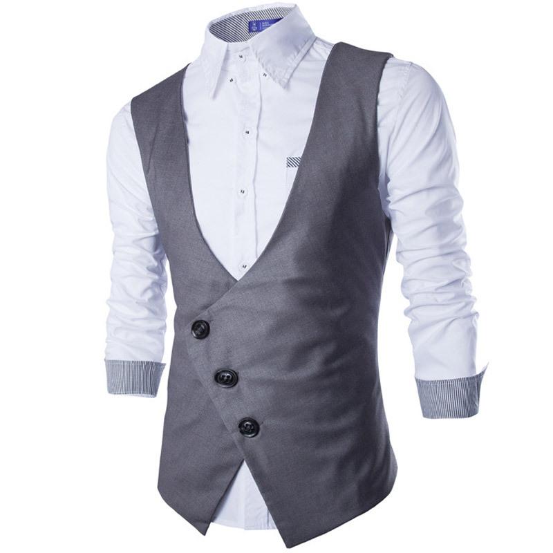 Buy black men's waistcoat