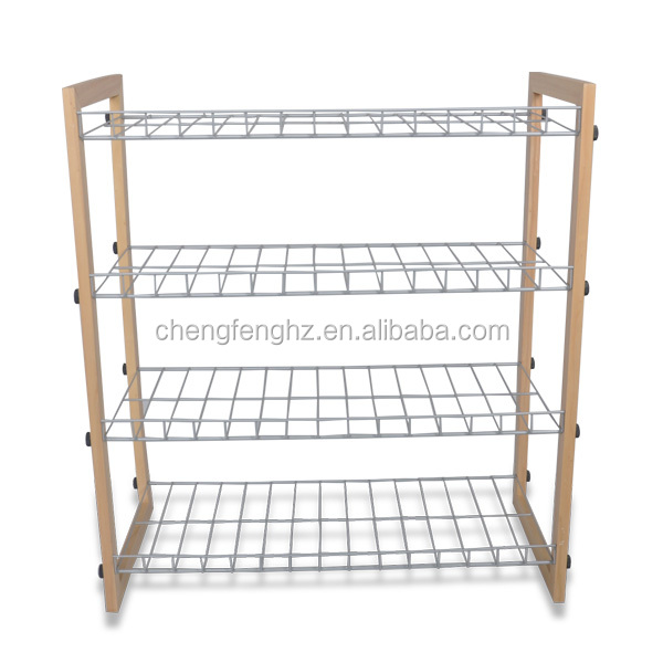 4 Tiers Wall Corner Shoe Rack For Home