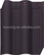 Chinese galzed villa clay roof tiles