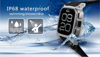 SNOPOW W1S 3G transflective screen IP68 waterproof android 4.4 dual core 1G RAM 8GROM android 4.0 watch phone vapirius ax2