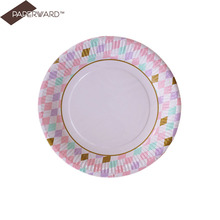 disposable food grade raw materials paper plate for party